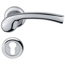 Polished Stainless Steel Lever Door Handle