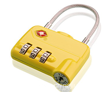Yellow Colorful Tsa Combination Lock Code Lock