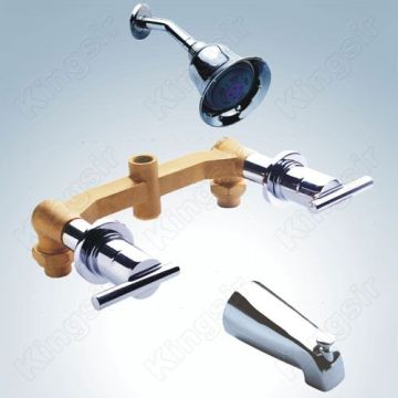 Brass Bathroom Shower Tap Set
