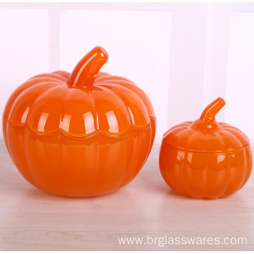 Halloween Pumpkin Glass Jar