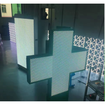 P10 Double Side Cross Pharmacy LED Display