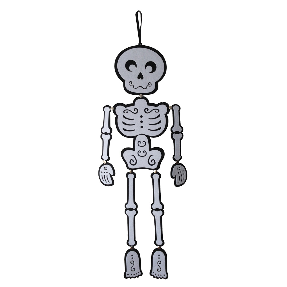 Halloween Skeleton Wall Sign