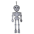 Halloween hanging skeleton wall sign
