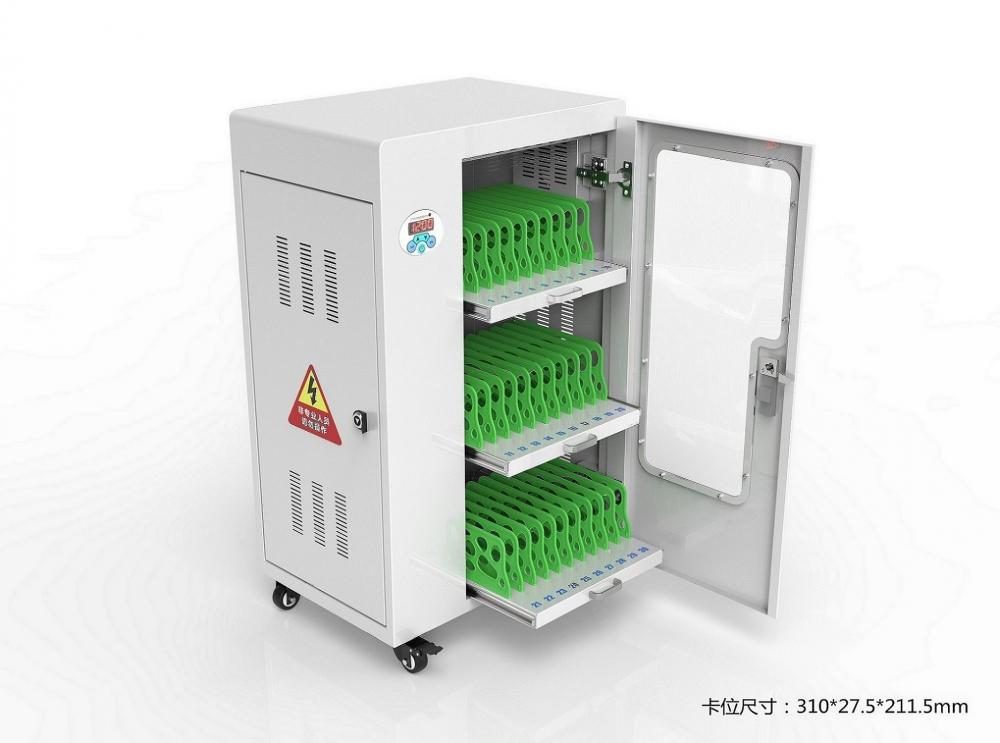 Locking charging cabinet for school tablets
