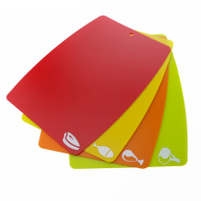 4PCS Flexible Plastic Cutting Board Set