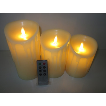 High quality remote control led pillar candle