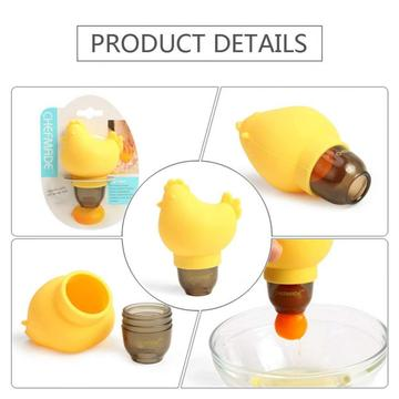 Silicone Chicken Laying Shaped Egg Yolk Separator