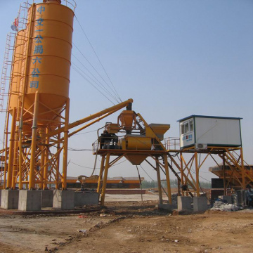Portable concrete batching plant HZS35 construction for sale