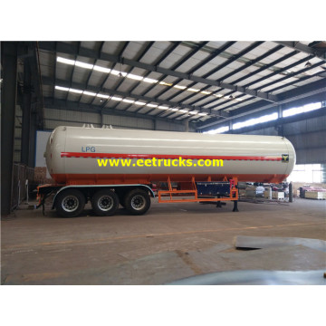 3 Axle 56000L LPG Delivery Tanker Trailers