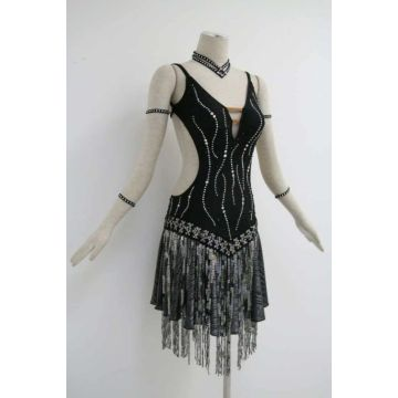 Black costumes for dance competition