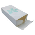 White paper perfume packaging box with custom logo