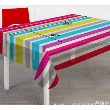 Pvc Printed fitted table covers 108 Inch Round