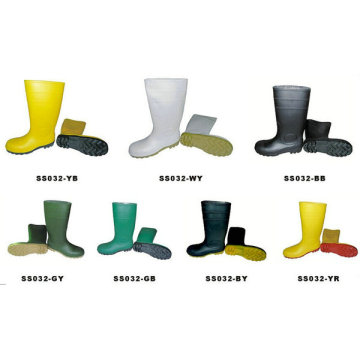men's industrial pvc gumboot wtih steel