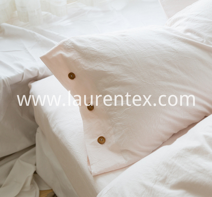 linen pillow case with button