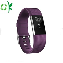 High-end Newest Deep Purple Fitbit Silicone Watch Straps