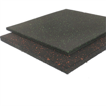 black rubber floor with colorful dot