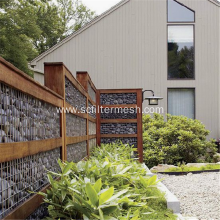 Galvanized Gabion Basket Garden Wall Fence