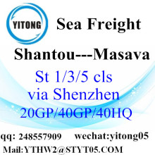 Shantou Sea Freight to Masava