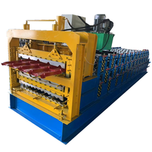Three layer color steel metal wall forming machine