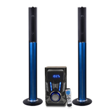 Standing tower speaker bluetooth system with subwoofer