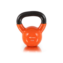 15LB Orange Vinyl Coated Kettlebell