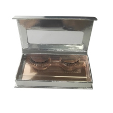 Shiny Silver Rose Gold Interior Eyelashes Box