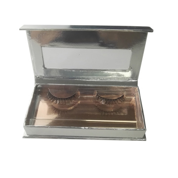 Custom Silver Magnetic Clear Window Eyelash Box
