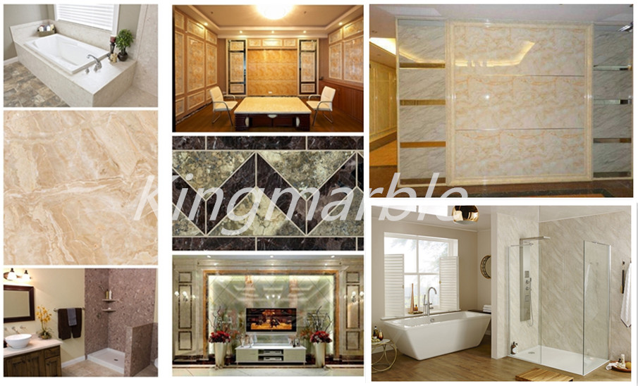 1220MM*2440MM PVC Marble Sheets