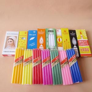 Multicolor Paraffin Wax Stick Candle Decoration Wholesale