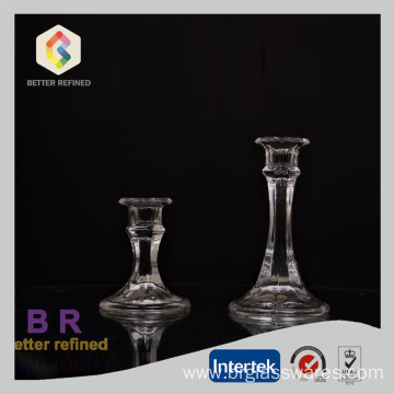 Mini Clear Glass Dinner Candlestick Holder
