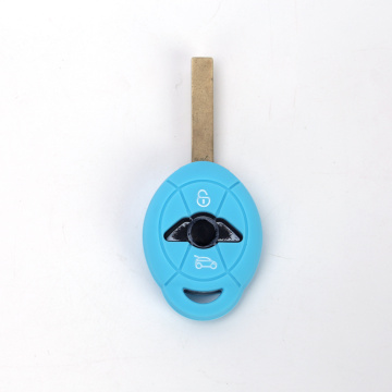 Debossed logo BMW silicone car key cover case
