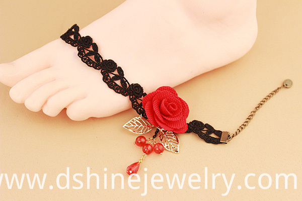 Home Design Lace Anklets For Women