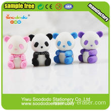 3d cute penda shape lovely  kid eraser