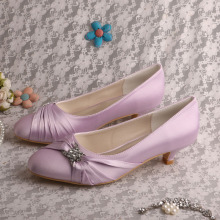 Closed Toe Lilac Wedding Bridesmaid Shoes
