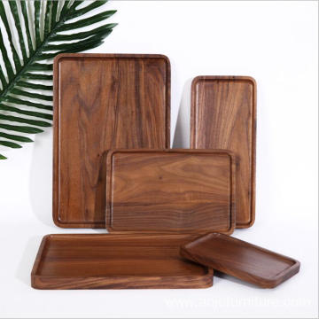 Best quality and factory for Offer Wooden Food Trays,Wooden Tray,Wood Serving Tray From China Manufacturer Wood Serving Tray Black Walnut Made Oval rectangle Serving Tray export to Ukraine Wholesale