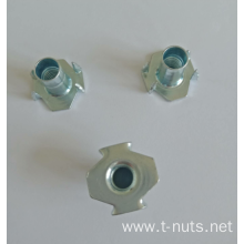 Galvanized Furniture HOPPER FEED NOTCHED PRONG T-Nut