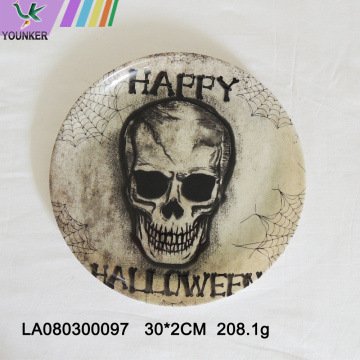 Halloween-themed party with skull plates