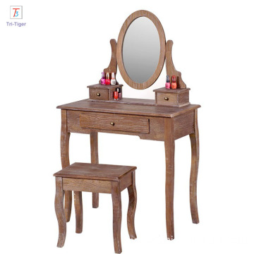 factory wooden dressing cabinet mirror home decor dresser tv stand