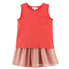 100% Cotton Sleeveless T-Shirt for Kids Girls