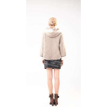 Short Winter Women Merino Shearling Jacket