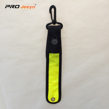LED Light High Visible Yellow PVC Flashing Keyring