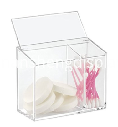 2 Compartments Acrylic Cosmetic Organizer