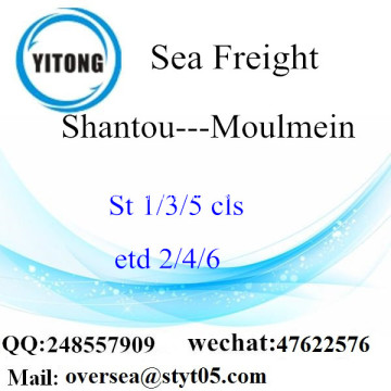 Shantou Port LCL Consolidation To Moulmein