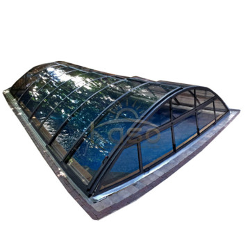 Aluminum Screen Enclosure Polycarbonate Swimming Pool Cover