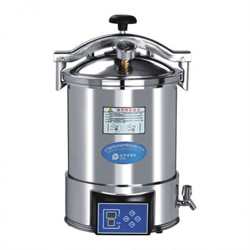 laboratory digital display 24L portable autoclave