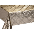 Silver Gold Coating Fabric Tablecloth