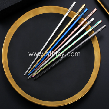Stainless Steel Chopsticks With Titanium Plating
