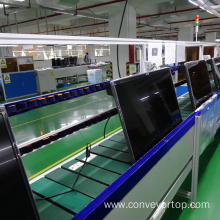 Goods high definition for for China Slat Chain Conveyor Systems,Slat Chain Conveyor,Light Duty Conveyor Manufacturer TV Testing Line with Slat Chain Plate Conveyor export to Poland Supplier