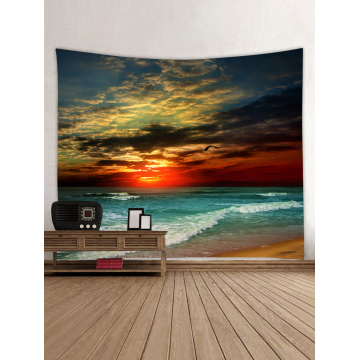 Tapestry Wall Hanging Ocean Beach Sea Wave Series Tapestry Sunrise Sunset Dusk Tapestry for Bedroom Home Dorm Decor