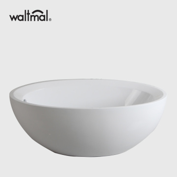 Round Resin Acrylic Freestanding Bathtubs